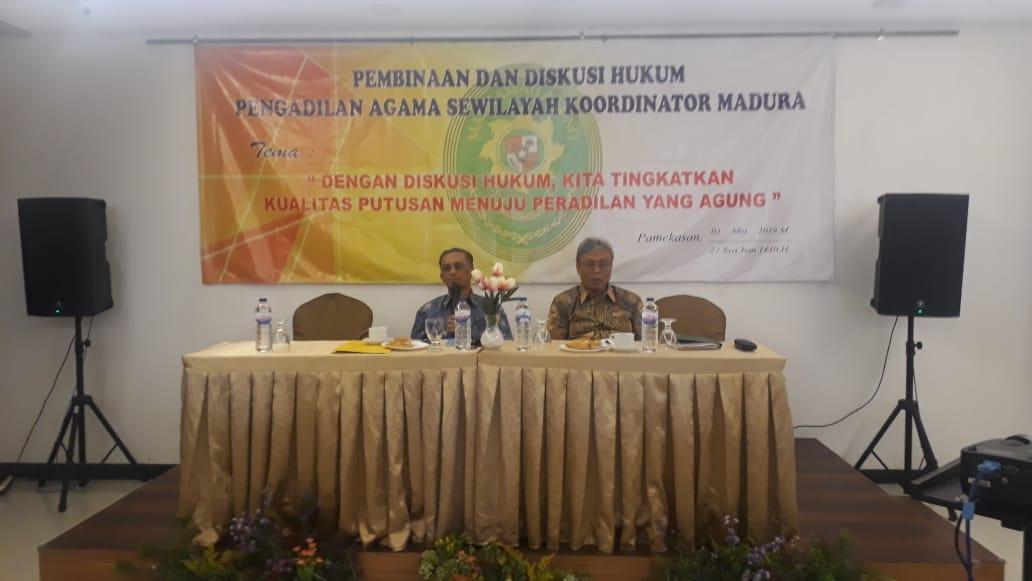 Pembinaan dan Diskusi Hukum Pengadilan Agama Sewilayah Koordinator Madura