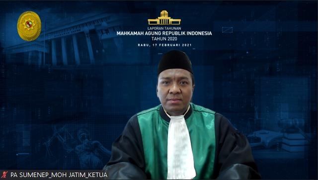 KKetua Pengadilan Agama Sumenep saat mengikuti Laptah MARI